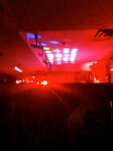 Follow the red light.