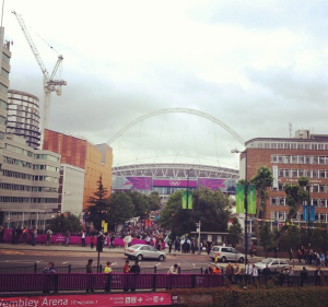 My first of many (3) visits to Wembley.